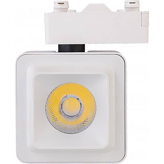 Светильник IMAGE 20W на однофазный трек 220V, LED 4200K, КВАДРАТНЫЙ, Белый (IL.TRL-20-Q.WH)