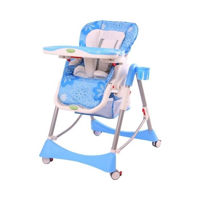 Детcкий стульчик для кормления BabyOne (голубой) - H1008B