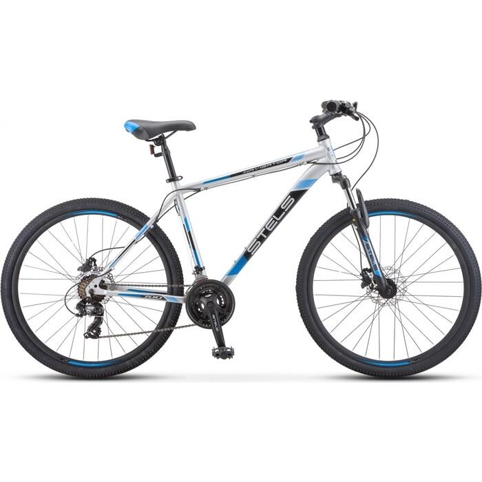велосипед stels navigator 900 d 29 f010 21 серебристый синий Велосипед Stels Navigator-700 D 27.5 F010 19 Серебристый/синий