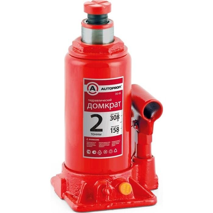 Домкрат гидравлический бутылочный AUTOPROFI (2 тонны) DG-02