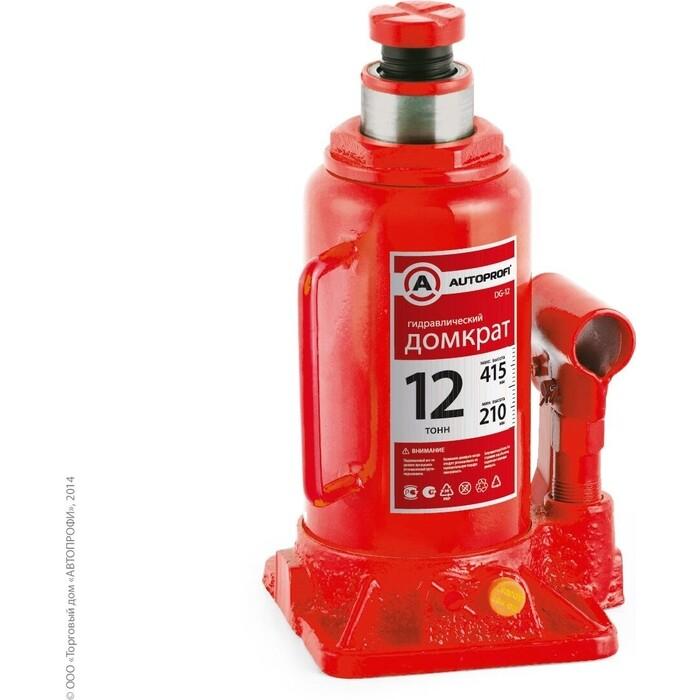 Домкрат гидравлический бутылочный AUTOPROFI (12 тонн) DG-12