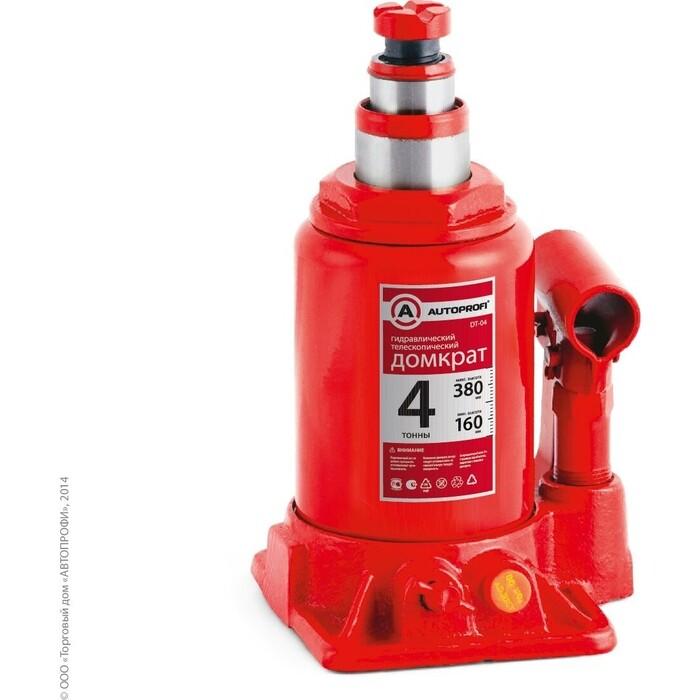 Домкрат гидравлический бутылочный AUTOPROFI (4 тонны) DT-04