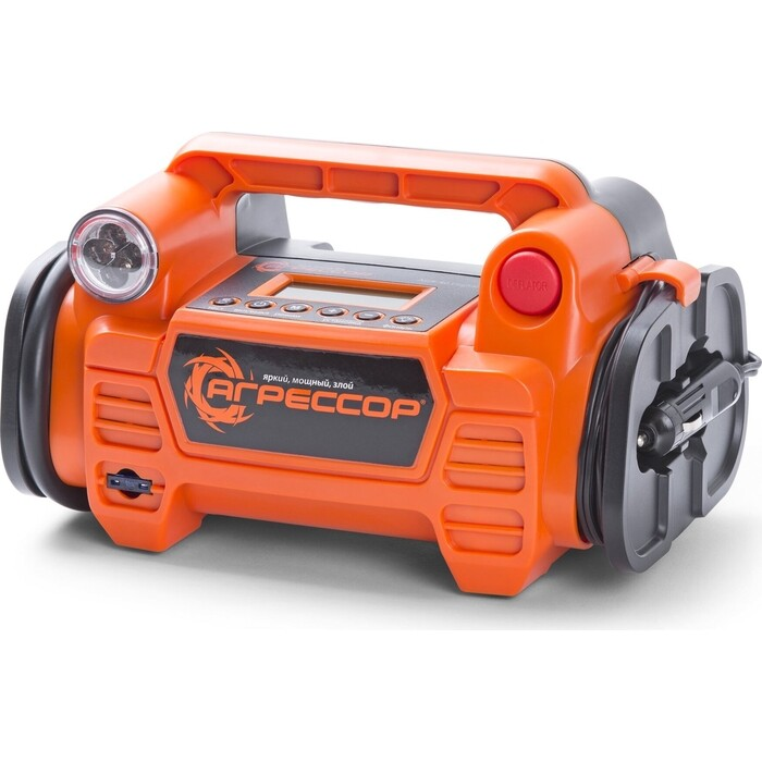 Компрессор автомобильный АГРЕССОР Цифровой компрессор 160 Вт. 5 в 1 AGR-40 Digital