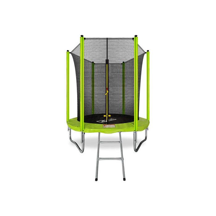Фото - Батут Arland 6FT с внутренней страховочной сеткой и лестницей (светло-зеленый) каркасный батут arland премиум 16ft с внутренней страховочной сеткой и лестницей dark green