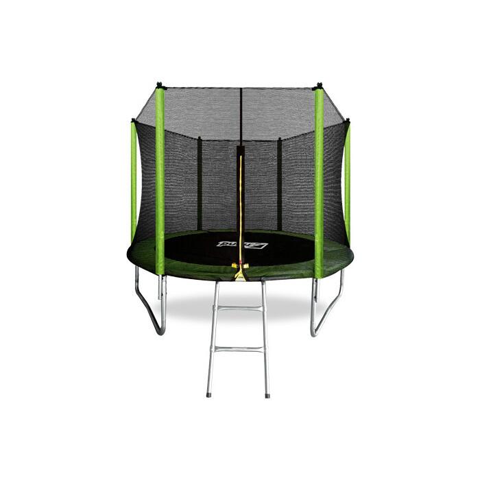Батут Arland 8FT с внешней страховочной сеткой и лестницей (светло-зеленый)