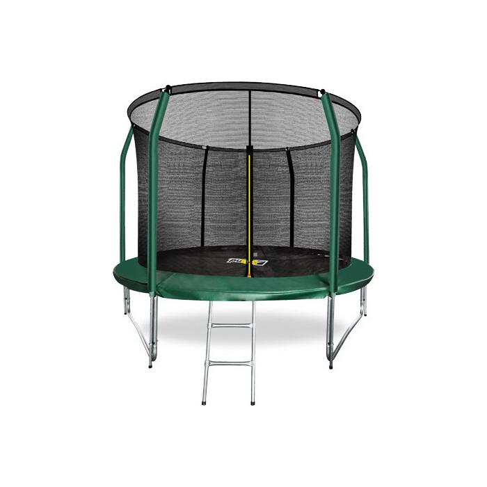 Фото - Батут Arland 10FT с внутренней страховочной сеткой и лестницей (темно-зеленый) батут 12ft с внутренней страховочной сеткой и лестницей light green arland