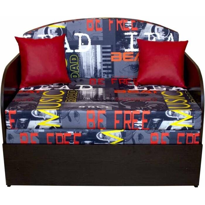Диван-кровать DИВАН Натали (мьюзик люкс ред) Д-черн арт 80370105