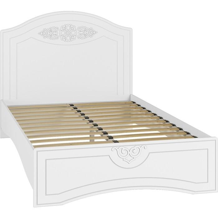 Кровать с ламелями и опорами Compass Ассоль АС-111К 200x120 белое дерево