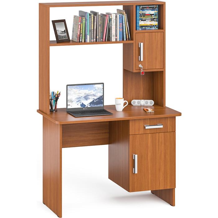 Стол письменный с надстройкой Мебельный двор С-МД-1-09Н итальянский орех не универсальная сборка