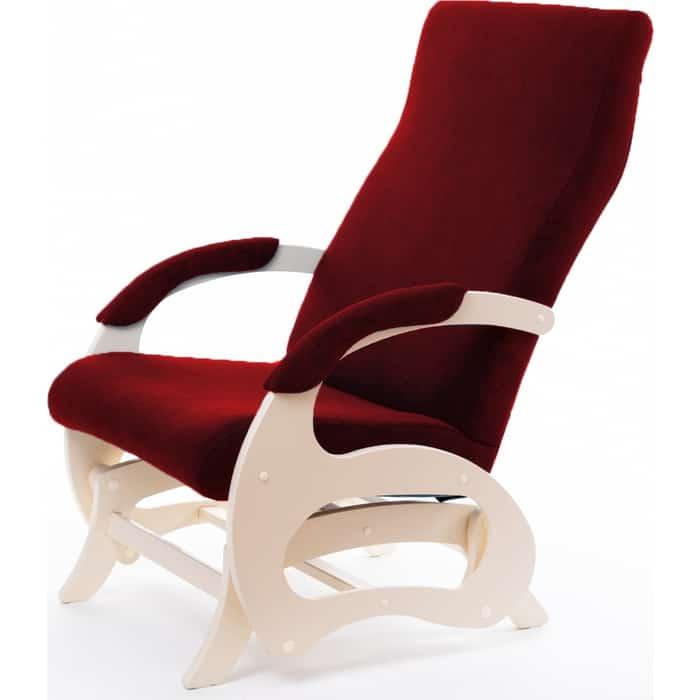 Кресло- маятник Мебелик Пиза б/вставки ткань бордо, каркас дуб шампань