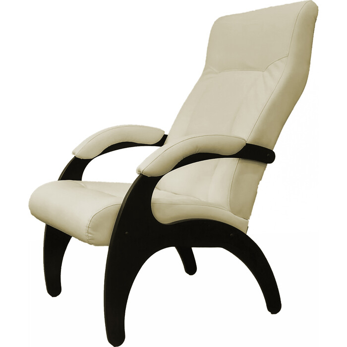 Кресло Мебелик Пиза экокожа крем, каркас венге