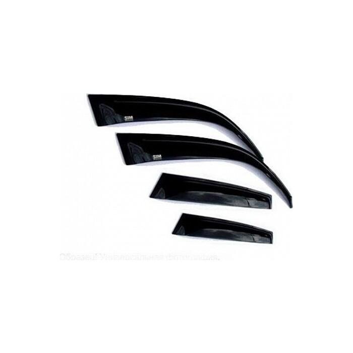 Дефлекторы окон Sim Hyundai Sonata (2010-2014) (4 части) (темн.)