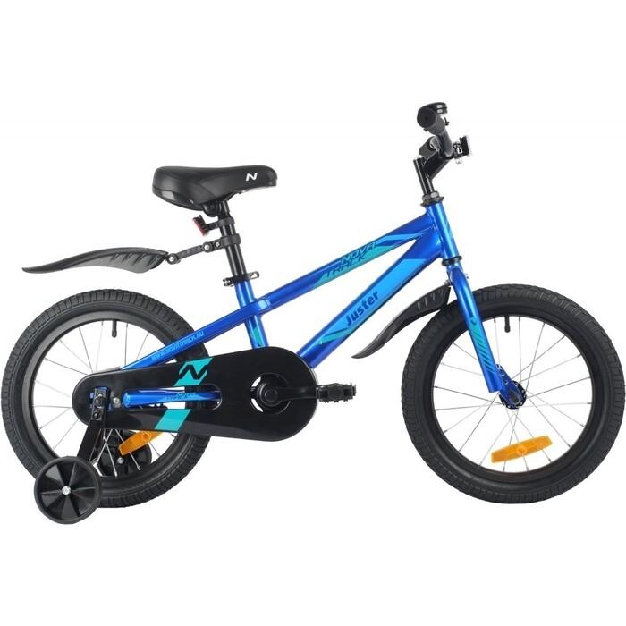 Велосипед NOVATRACK 16 JUSTER сталь синий one size