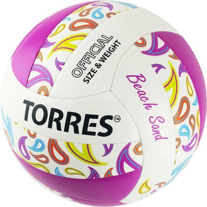 Мяч волейбольный Torres Beach Sand Pink V32085B, р.5