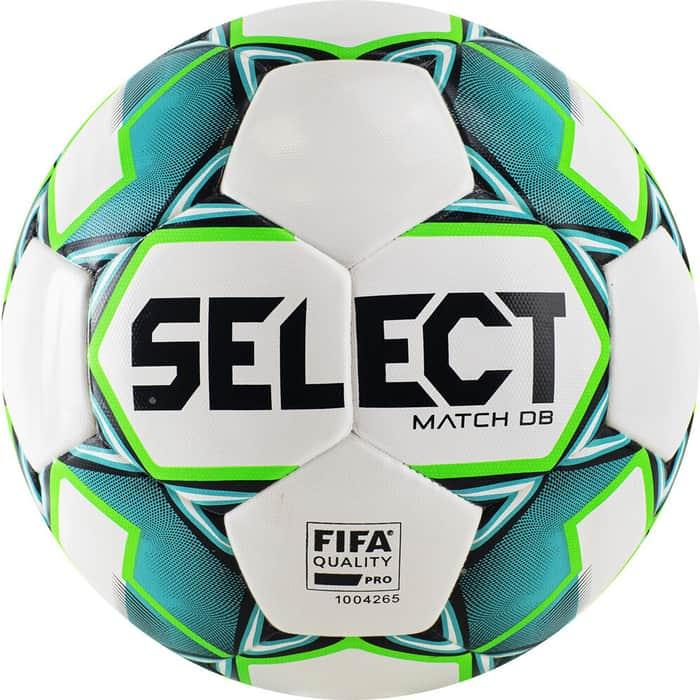 Мяч футбольный Select Match DB FIFA 814020-004, р.5, FIFA мяч футб demix fifa quality р 5 2021 для газона 0 44гр белый s21edeat007 00
