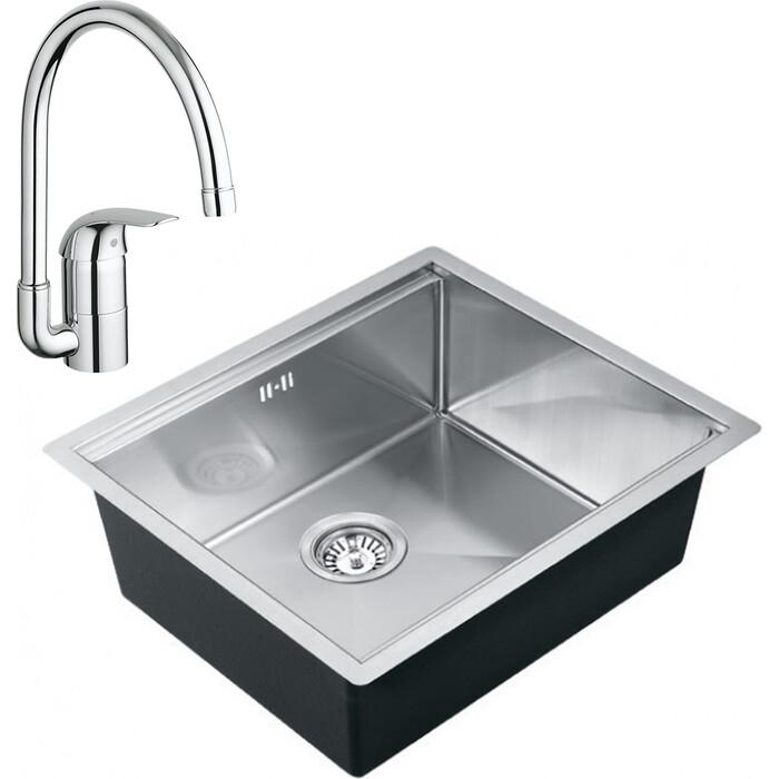 Кухонная мойка и смеситель Kaiser KTM-5548 нержавеющая сталь (KTM-5548, 32752000)