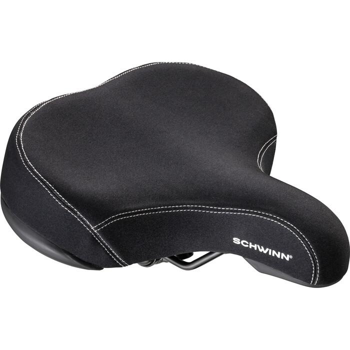 Седло велосипедное Schwinn Extra Wide Lycra покрытие лайкра, цвет чёрный