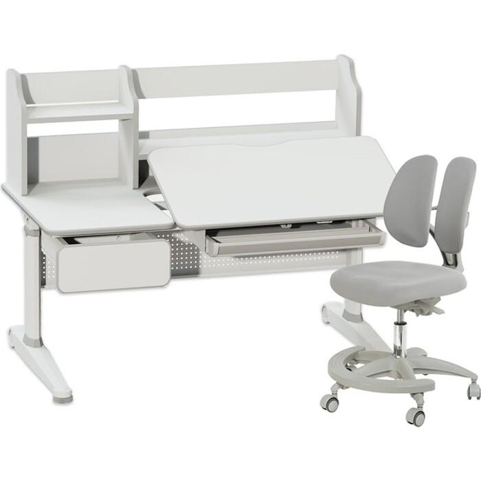 Комплект FunDesk Парта Abelia grey + кресло Primo