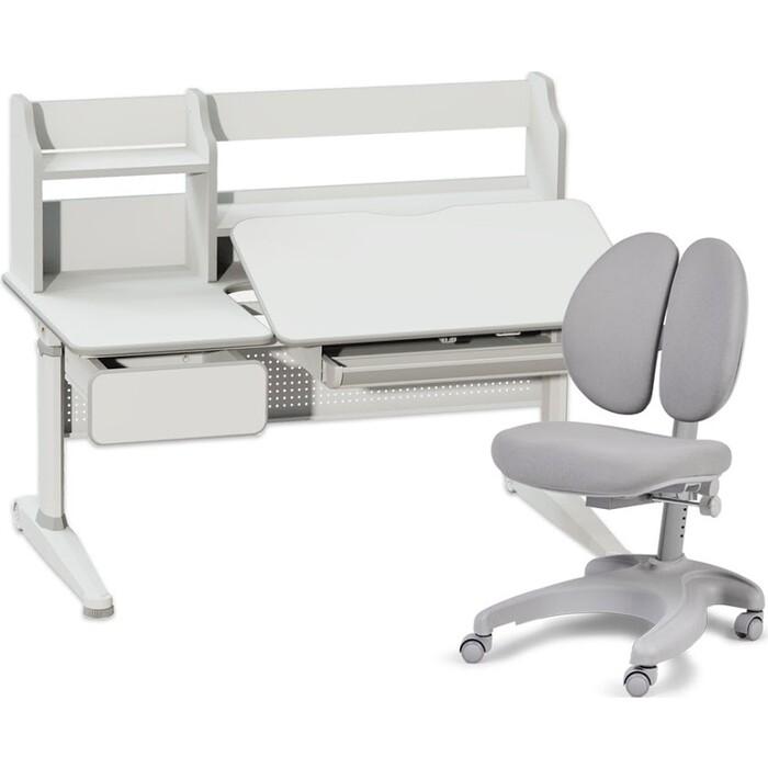 Комплект FunDesk Парта Abelia grey + кресло Solerte