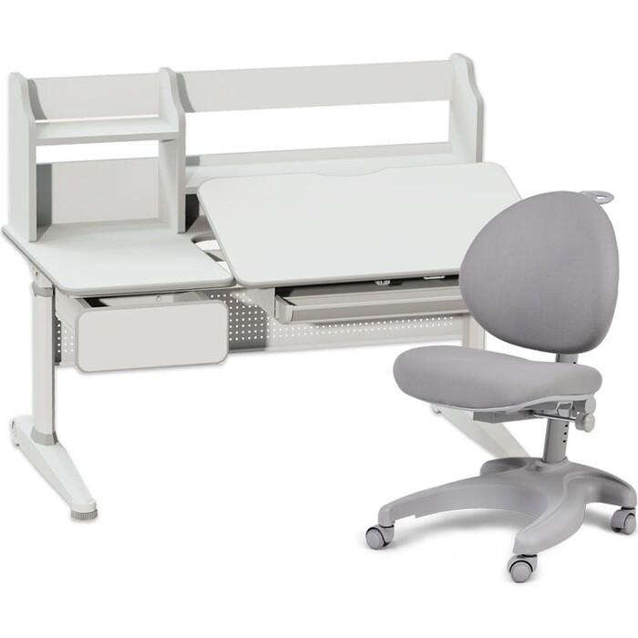 Комплект FunDesk Парта Abelia grey + кресло Cielo