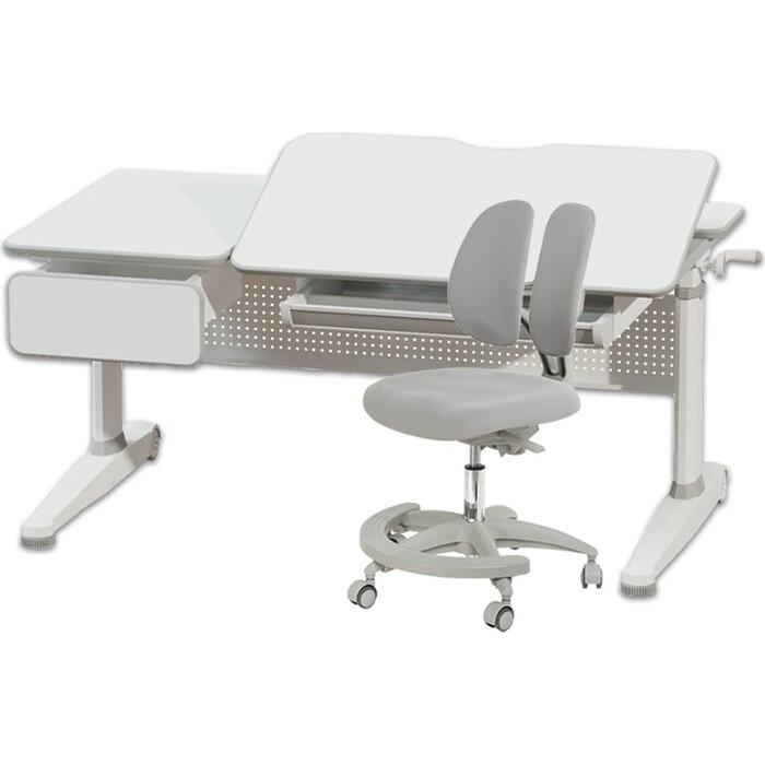 Комплект FunDesk Парта Aster grey + кресло Primo grey комплект fundesk парта rimu grey кресло pratico grey