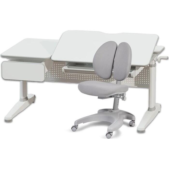 Комплект FunDesk Парта Aster grey + кресло Solerte