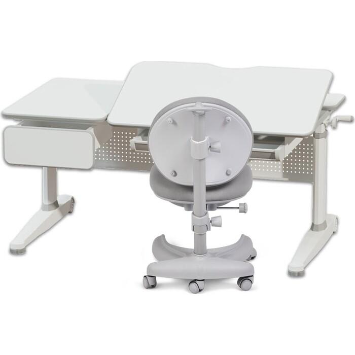 Комплект FunDesk Парта Aster grey + кресло Cielo