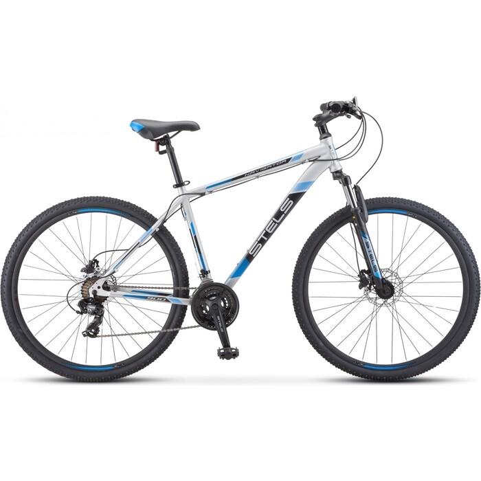 велосипед stels navigator 900 d 29 f010 21 серебристый синий Велосипед Stels Navigator-900 D 29 F010 17.5 Серебристый/синий