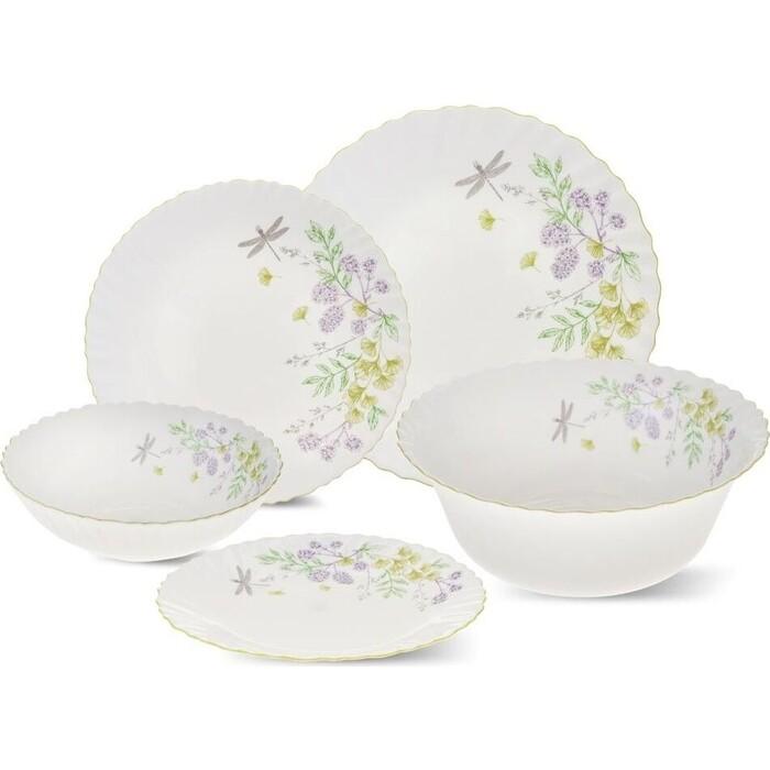 Набор столовой посуды Hitt OPAL Botanica 19 предметов (H-BO137)
