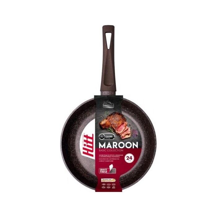 Сковорода Hitt Maroon 22 см (HM1022)