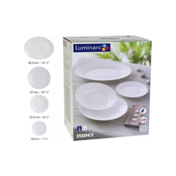 Набор столовой посуды 19 предметов Luminarc Essence White (N1190)