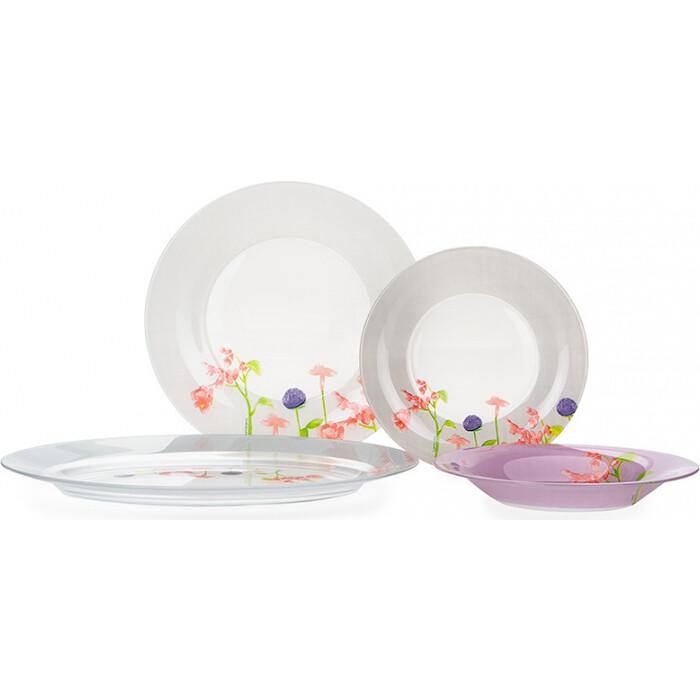 Фото - Набор столовой посуды 19 предметов Luminarc Rozana Begonia (N2169) набор столовой посуды 19 предметов olaff jy s 19 07