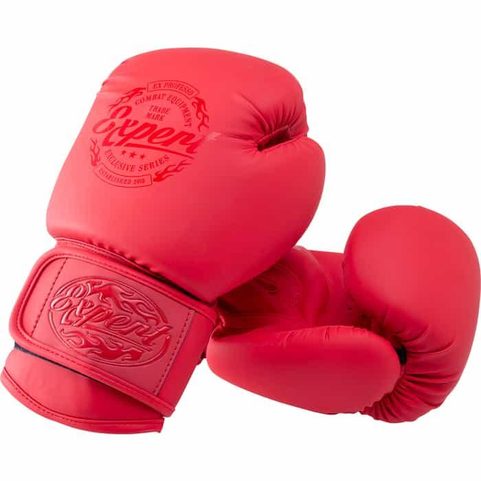 Перчатки боксерские FIGHT EXPERT BGS-V010, красный, 10 oz