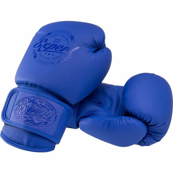 Перчатки боксерские FIGHT EXPERT BGS-V010, синий, 10 oz