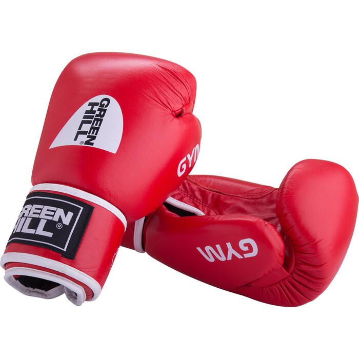 Перчатки боксерские GREEN HILL GYM BGG-2018, 12oz, кожа, красный