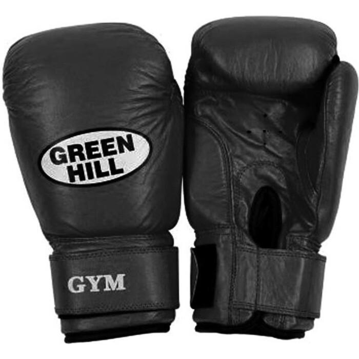 Перчатки боксерские GREEN HILL GYM BGG-2018, 12oz, кожа, черный боксерские перчатки green hill gym bgg 2018 синий 10 oz