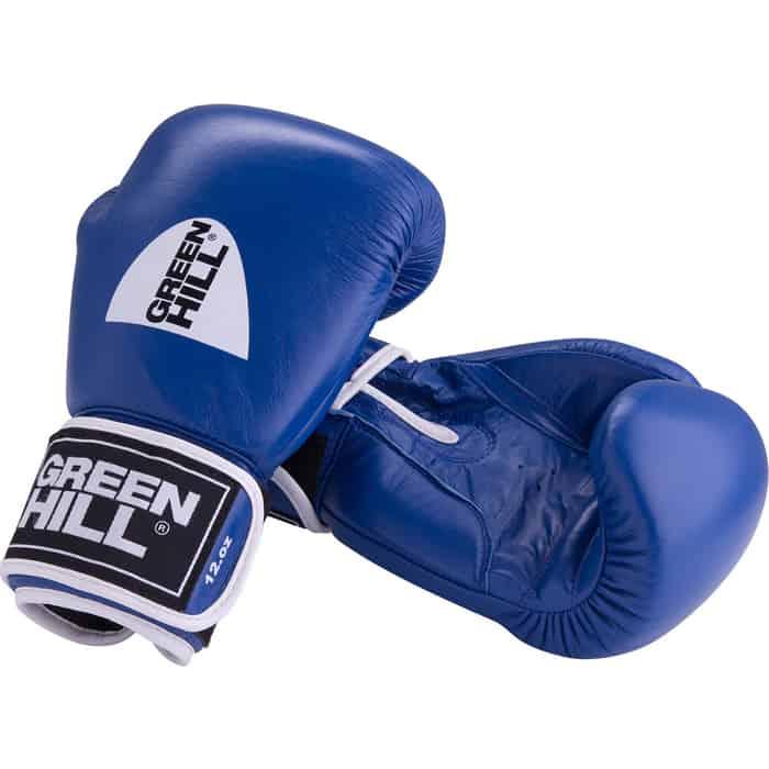 Перчатки боксерские GREEN HILL GYM BGG-2018, 8oz, кожа, синий боксерские перчатки green hill gym bgg 2018 синий 10 oz