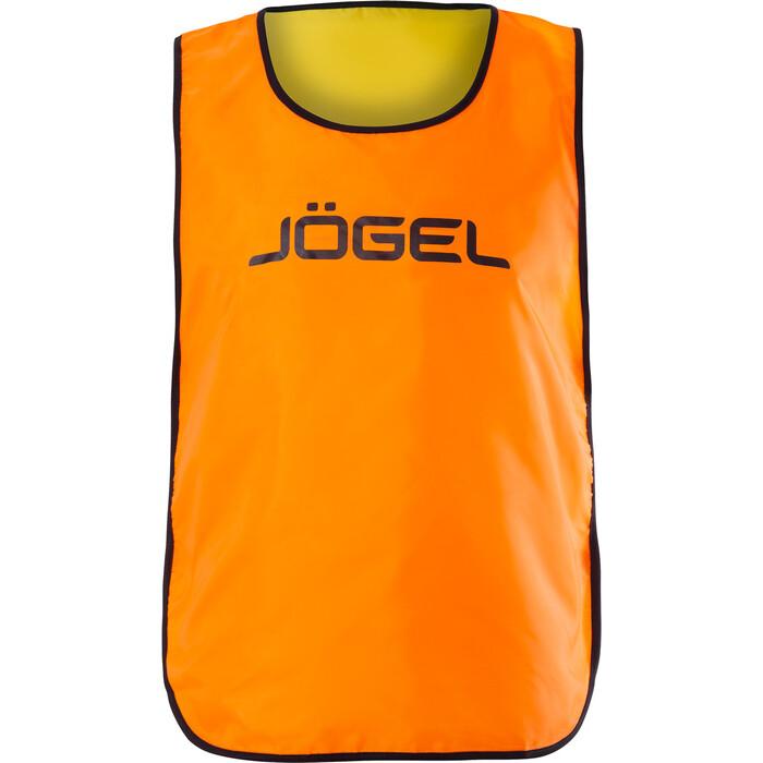 Манишка двухсторонняя JOGEL Reversible Bib, оранжевый/лаймовый, детский