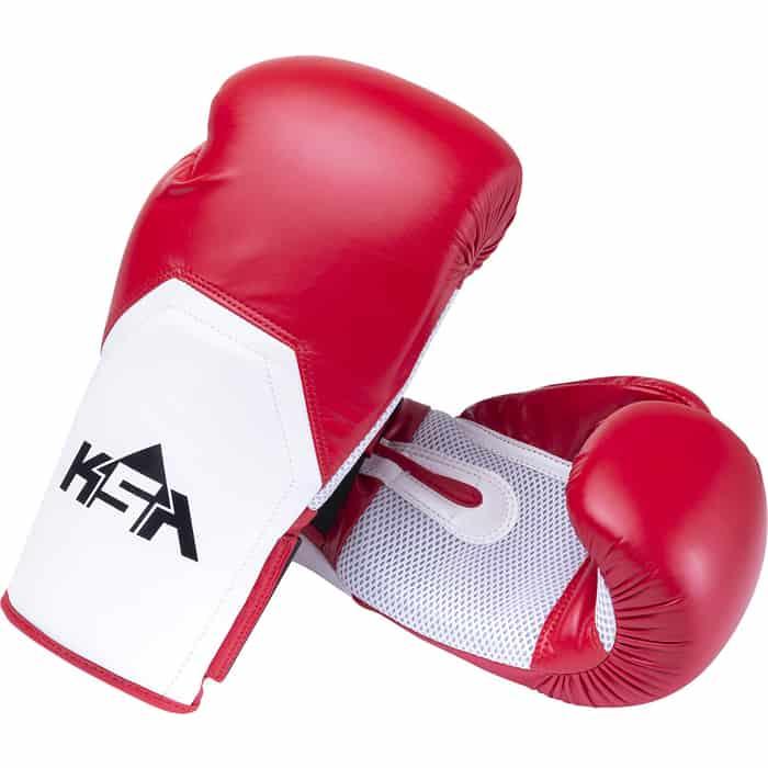 Перчатки боксерские KSA Scorpio Red, к/з, 14 oz