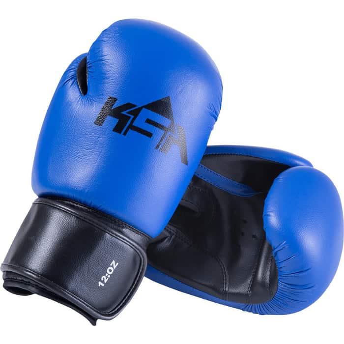 Перчатки боксерские KSA Spider Blue, к/з, 12 oz