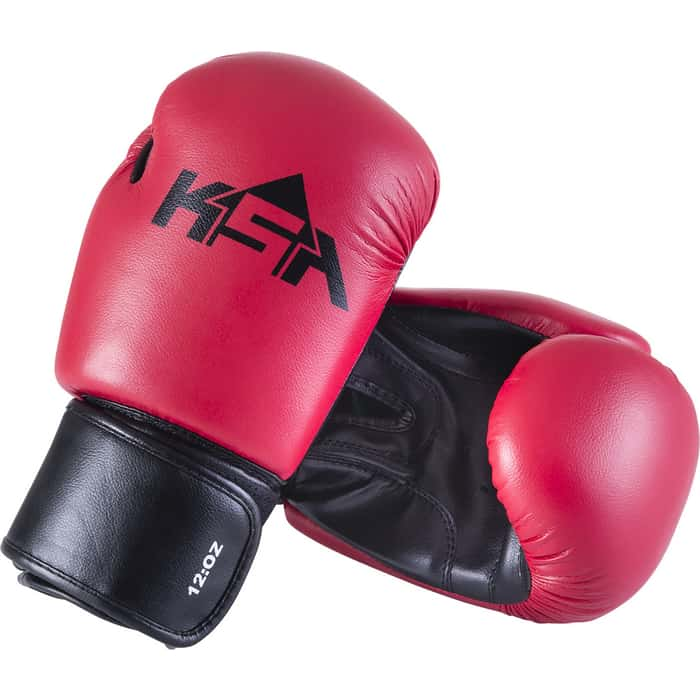 Перчатки боксерские KSA Spider Red, к/з, 10 oz