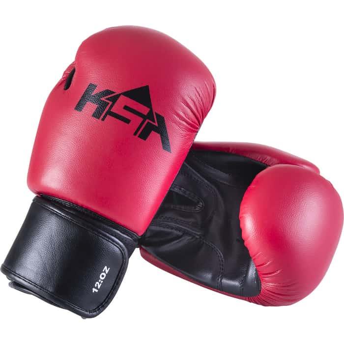 Перчатки боксерские KSA Spider Red, к/з, 12 oz