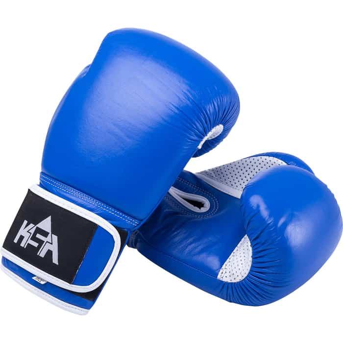 Перчатки боксерские KSA Wolf Blue, кожа, 12 oz
