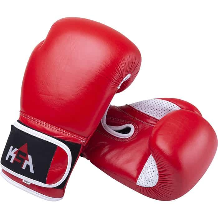 Перчатки боксерские KSA Wolf Red, кожа, 12 oz