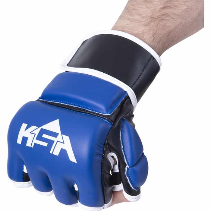 Перчатки для MMA KSA Wasp Blue, к/з, L