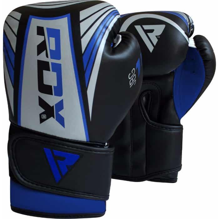 Перчатки боксерские RDX KIDS JBG-1U SILVER/BLUE JBG-1U-4oz, 4 oz, детские