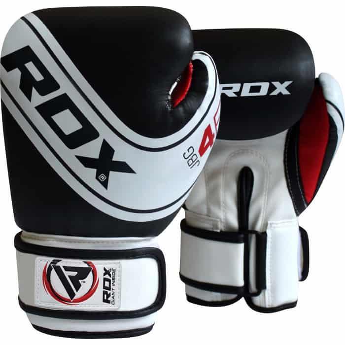 Перчатки боксерские RDX KIDS WHITE/BLACK JBG-4B-6oz, 6 oz, детские