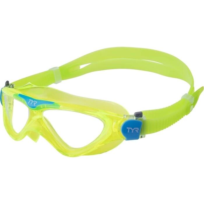 Маска для плавания TYR Rogue Swim Mask Youth, зеленый (LGRSMKD/892)