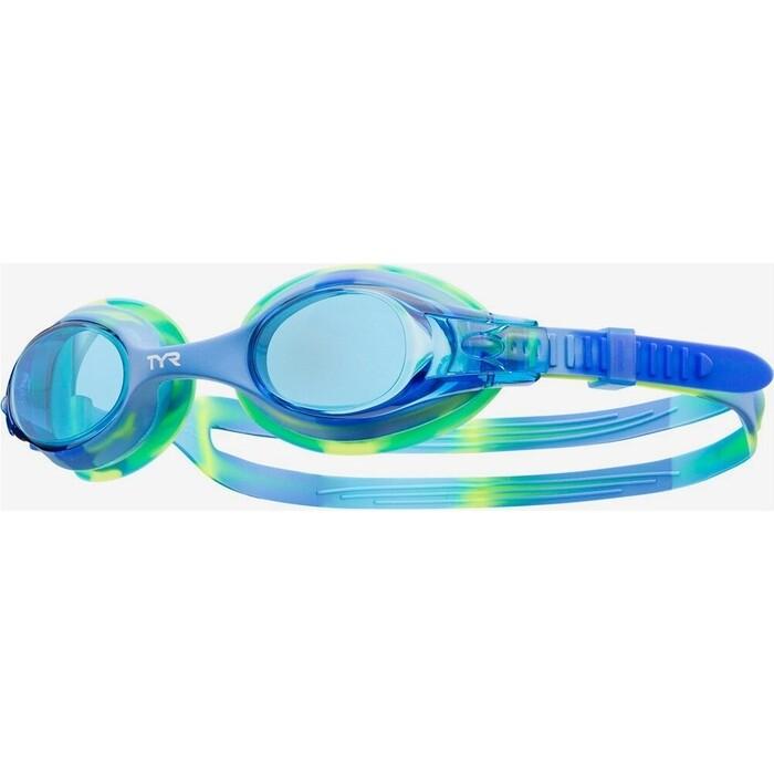 Очки для плавания TYR Kids Swimple Tie Dye, голубой (LGSWTD/487)