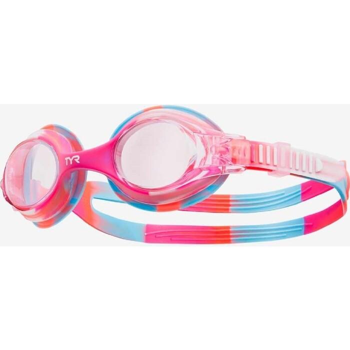 Очки для плавания TYR Kids Swimple Tie Dye, розовый (LGSWTD/667)
